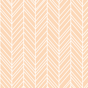 herringbone feathers creamy peach