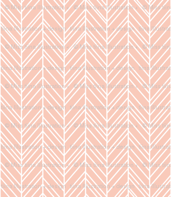 herringbone feathers blush