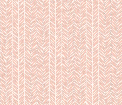 herringbone feathers blush fabric by misstiina on Spoonflower - custom fabric