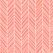 herringbone feathers peach