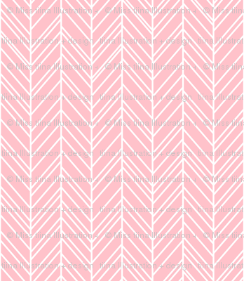 herringbone feathers light pink