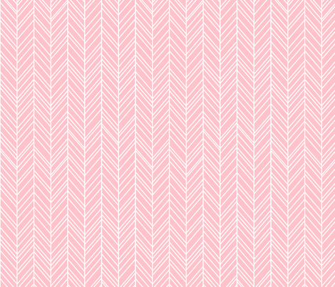 herringbone feathers light pink fabric by misstiina on Spoonflower - custom fabric