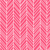herringbone feathers hot pink