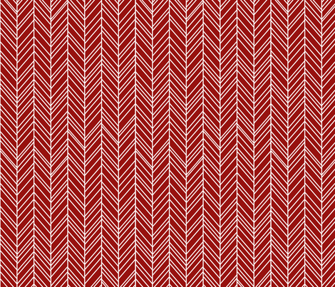 herringbone feathers dark red fabric by misstiina on Spoonflower - custom fabric