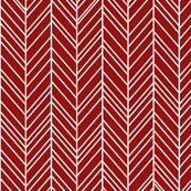 herringbone feathers dark red