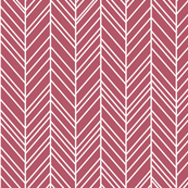 herringbone feathers berry