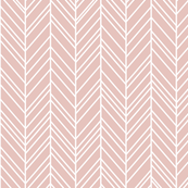herringbone feathers dusty pink