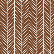 herringbone feathers chocolate brown