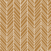 herringbone feathers caramel