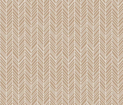 herringbone feathers tan fabric by misstiina on Spoonflower - custom fabric