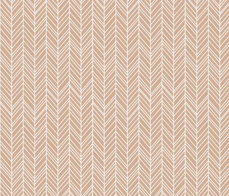 herringbone feathers toasted nut fabric by misstiina on Spoonflower - custom fabric
