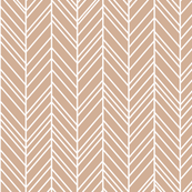 herringbone feathers toasted nut