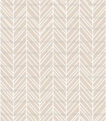 herringbone feathers sand