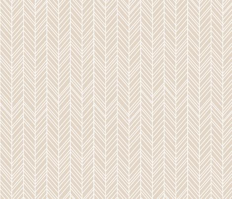 herringbone feathers sand fabric by misstiina on Spoonflower - custom fabric