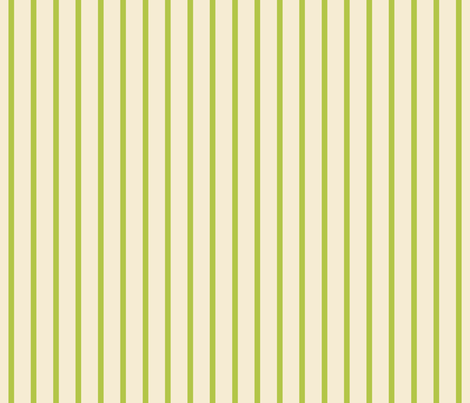 stripes lime green + winter white fabric by misstiina on Spoonflower - custom fabric