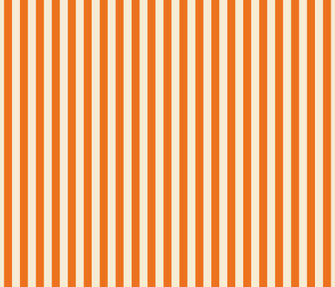 stripes orange + winter white fabric by misstiina on Spoonflower - custom fabric