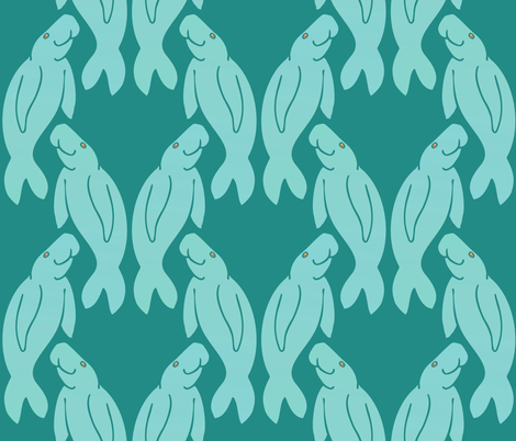 dugongs fabric by hannafate on Spoonflower - custom fabric