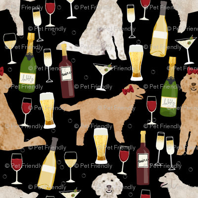 Golden Doodle wine cocktail party