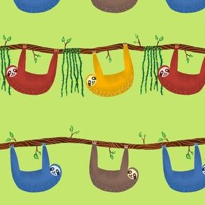 Sloths on Green