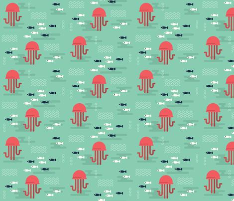 Jellyfish fabric by juliaandres on Spoonflower - custom fabric