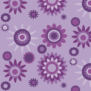 purple floral multi