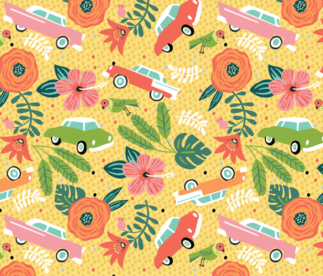 Cuban Holiday fabric by cynthiafrenette on Spoonflower - custom fabric