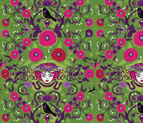 Secret Garden fabric by cynthiafrenette on Spoonflower - custom fabric