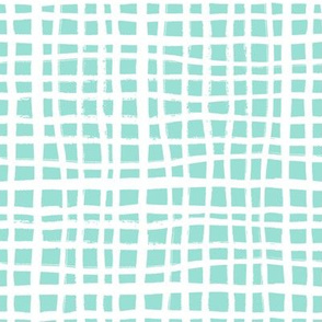 grid fabric mint grid nursery baby fabric simple coordinate