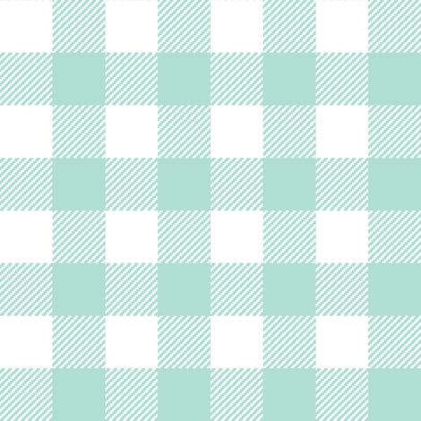 plaid fabric mint grid nursery baby fabric simple coordinate buffalo plaid fabric by charlottewinter on Spoonflower - custom fabric