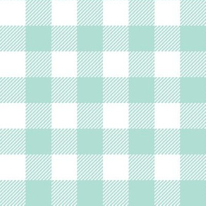plaid fabric mint grid nursery baby fabric simple coordinate buffalo plaid