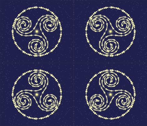 Constellation Triskelion fabric by magicinyourlivingroom on Spoonflower - custom fabric