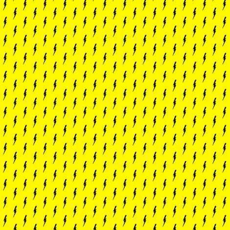 little bolts on yellow  fabric by littlearrowdesign on Spoonflower - custom fabric