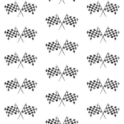 checkered flags  fabric by littlearrowdesign on Spoonflower - custom fabric