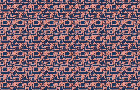 Viking Ships fabric by katrina_ward on Spoonflower - custom fabric