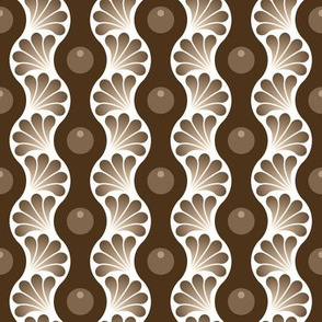 wavy splash : sepia coffee stain