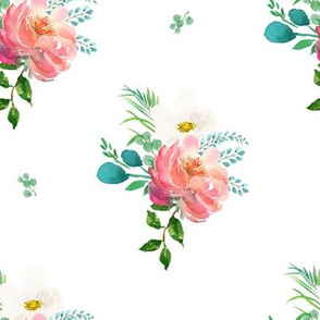 """8"""" Flamingo Park Florals - White"""