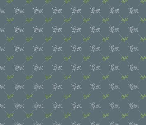 Grey and Greenery - Oh, greenery! fabric by daniteal on Spoonflower - custom fabric