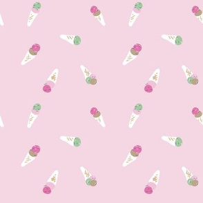 Ditsy Icecream on Pink