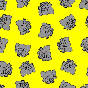 Grey Cartoon Elephants by Cheerful Madness!!