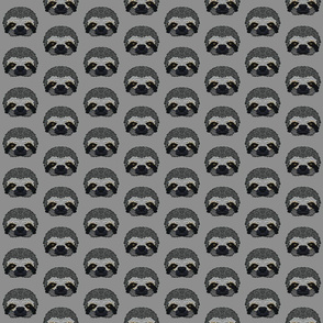 Grey Sloth Half-Drop Pattern
