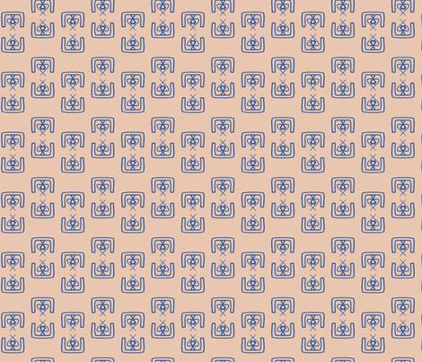 Mirror Pattern Terracotta fabric by janetdrummond on Spoonflower - custom fabric