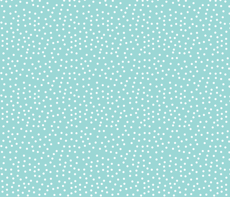 Polka_Dot_Ditsy_Aquamarine fabric by thistleandfox on Spoonflower - custom fabric