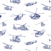 CG Helicopters // Blue