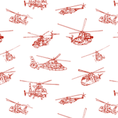 CG Helicopters // Red