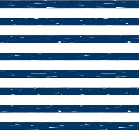 sailor stripes // navy stripe fabric summer nautical design fabric by andrea_lauren on Spoonflower - custom fabric