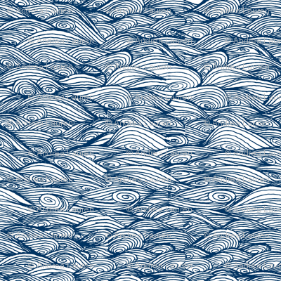 waves // hand-drawn wave nautical ocean fabric by andrea lauren