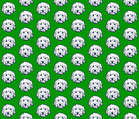 Goldendoodles - adorable doodle dogs in green fabric by cheeky~hodgepodge on Spoonflower - custom fabric