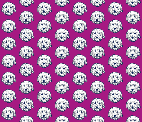 Goldendoodles - adorable doodle dogs in purple fabric by cheeky~hodgepodge on Spoonflower - custom fabric