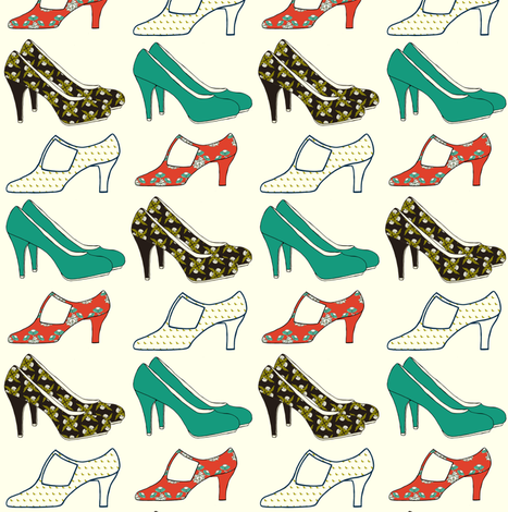 SHOES_multi-colored patterns fabric by carrie_narducci on Spoonflower - custom fabric