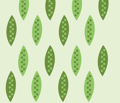 Peas in a pod fabric by lizdesigner on Spoonflower - custom fabric